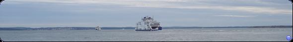 Des Wight Link dans le Solent (à Portsmouth) en Juin (© lebateaublog 2012)