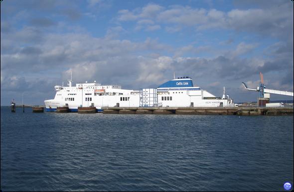 Celtic Horizon au poste 4 à Cherbourg (© lebateaublog 2013)