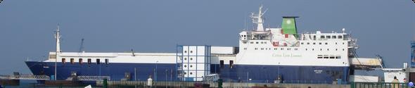Le 1er bateau de Celtic Link : Diplomat à Cherbourg en juillet 2006 avant la naissance de LeBateaublog (© lebateaublog 2006)