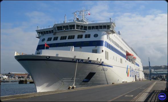 Galicia à Cherbourg en mars 2021 (© lebateaublog 2021)