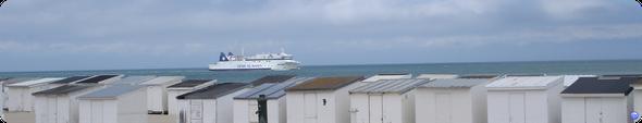 Barfleur / Deal Seaways à l'approche de Calais en Juin (© lebateaublog 2012)