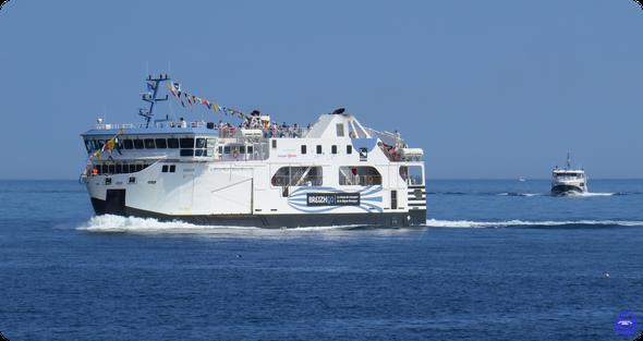 Bangor & Melvan à l'approche de Quiberon / Port Maria (©lebateaublog 14/07/2019)