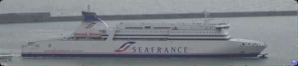 Seafrance Molière à Douvres (© lebateaublog 2011)