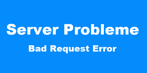 Server Probleme - Bad Request Error