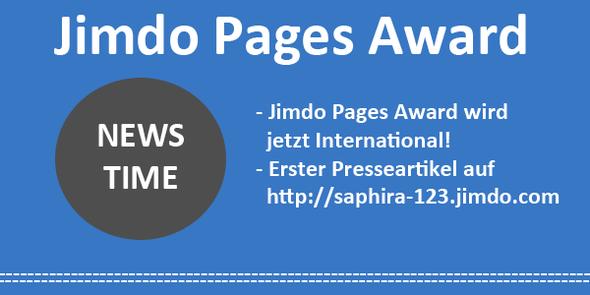 Jimdo Pages Award - Newstime - http://saphira-123.jimdo.com/