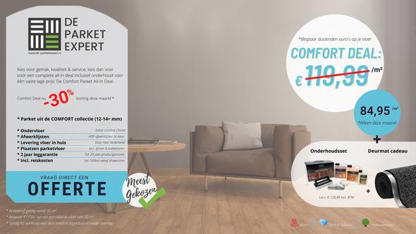 Alle voordelen van de comfort deal parket vloer in een oogopslag
