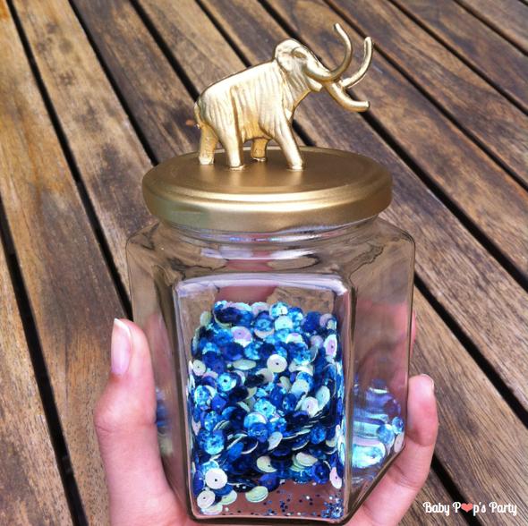 DIY Do it yourself customisation or gold pot bonbonnière animaux circus handmade