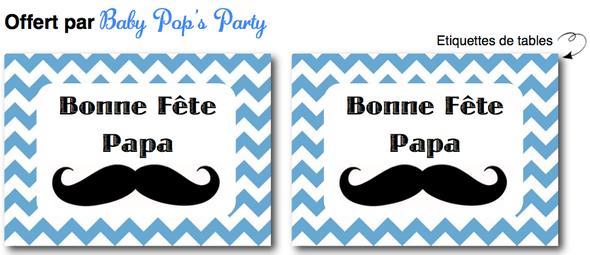 free printable etiquettes fête des pères moustache chevron bleu table sweet tables décoration