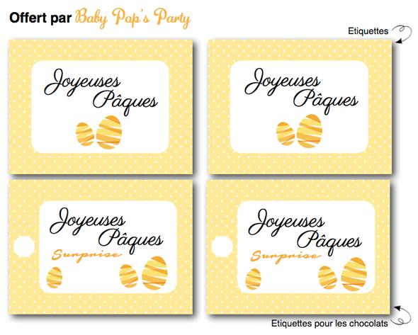 free printable étiquettes joyeuses pâques topper