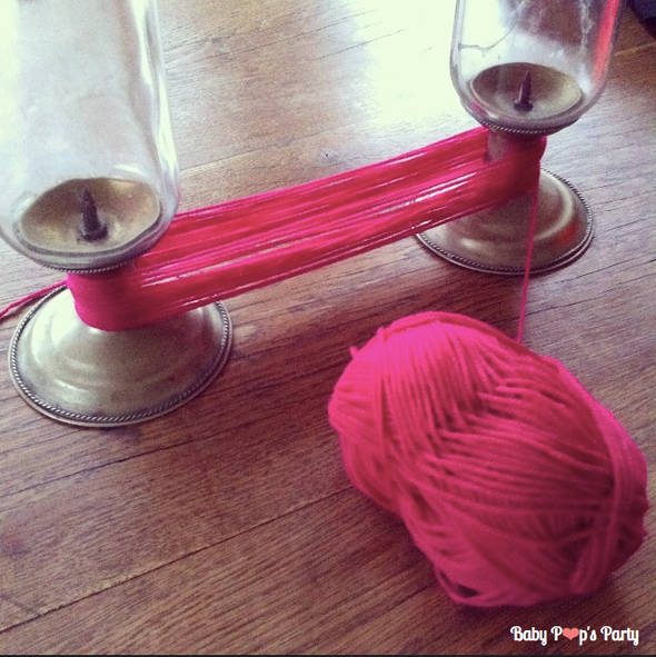 DIY Guirlande de pompoms do it yourself création maison laine facile rapide