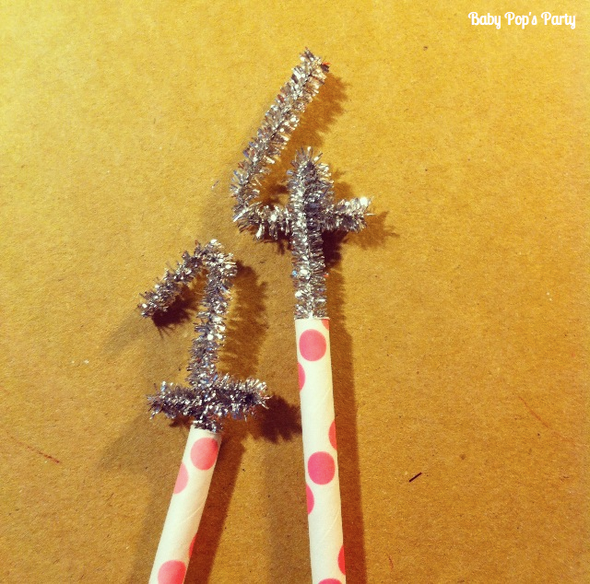 cake toppers paper straws pailles retro diy