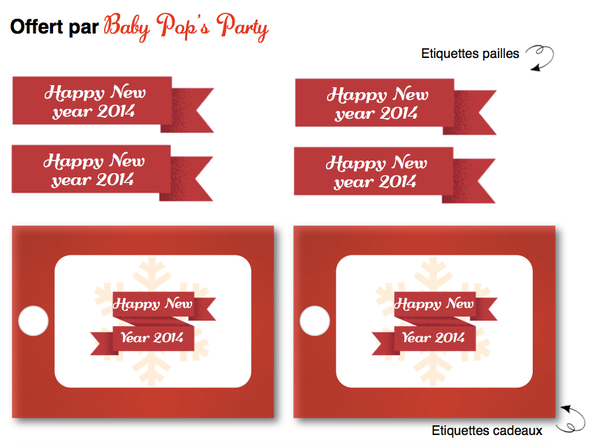 étiquettes 1er de l'an réveillon happy new year 2014 free printable kit sweet table