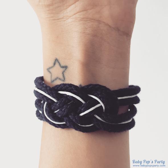 DIY bracelet noeud marin bleu marine do it yourself tuto tutoriel bijoux maison fait main baby pops party