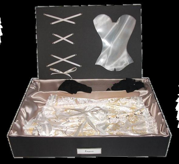 Corset simple (deux corsets à plat, l'un sur l'autre)