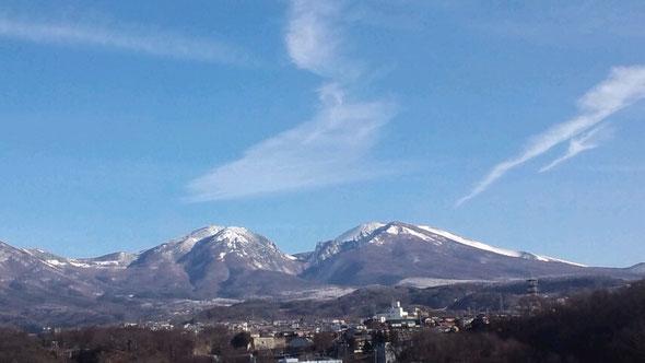我が家から見た浅間山