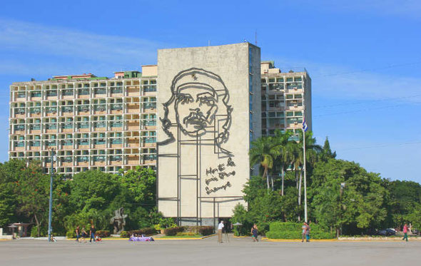 Havanna, Wandbild von Che Guevara