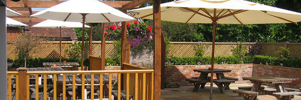 Pub garden & patio in Crondall, North Hampshire