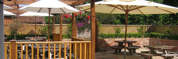 Pub garden & patio in Crondall, North Hampshire