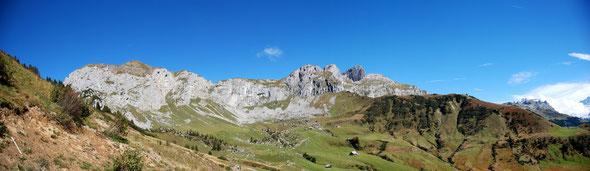Blick auf's Klettergebiet in der Gand