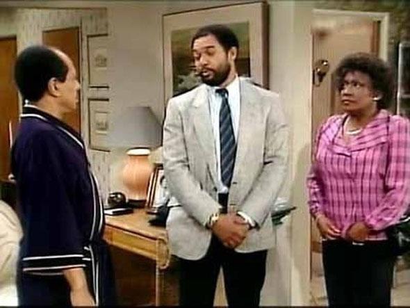 """Nella foto Reggie Jackson durante un episodio de """"I Jeffersons"""""""