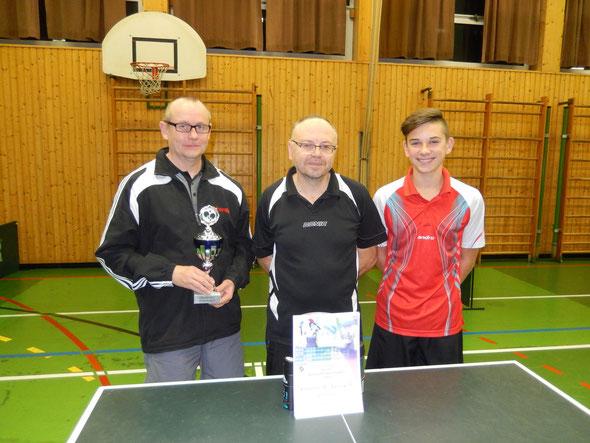 Die ersten Drei von links nach rechts: Peter Krätzig, Werner Kräutner und Niklas Oberth.