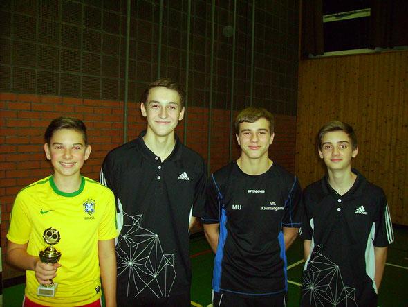 Die ersten vier von links nach rechts: Niklas Oberth, Christopher Emmerling, Markus Uhl und Marco Sterk.