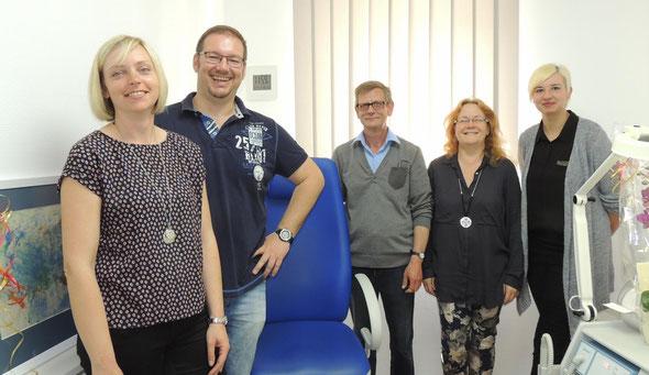 Das Team um Bert Krüger freut sich auch über die neue Arbeitsumgebung