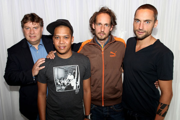 Ziggo Dome commercial director Danny Damman, Chuckie, Amsterdam Dance Event general manager Richard Zijlma and ID&T creative director Jeroen Jansen