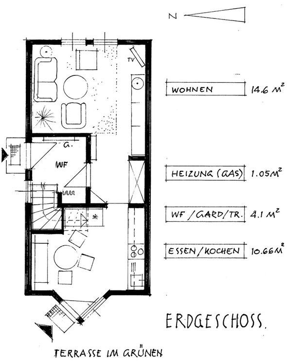 Grundriss Erdgeschoss mit Terassenzugang