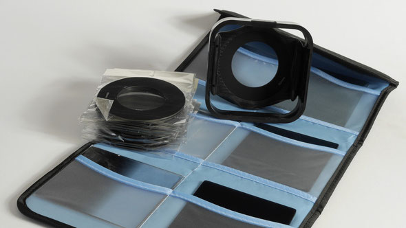 "A ""cokin"" set of ND filters and mount"