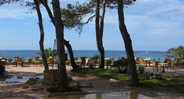 This hotel terrace on Mallorca was a fine place to enjoy a café con leche and read...