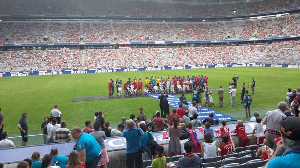 Bild: Handball Freiwurf Hamburg in der Allianz Arena München