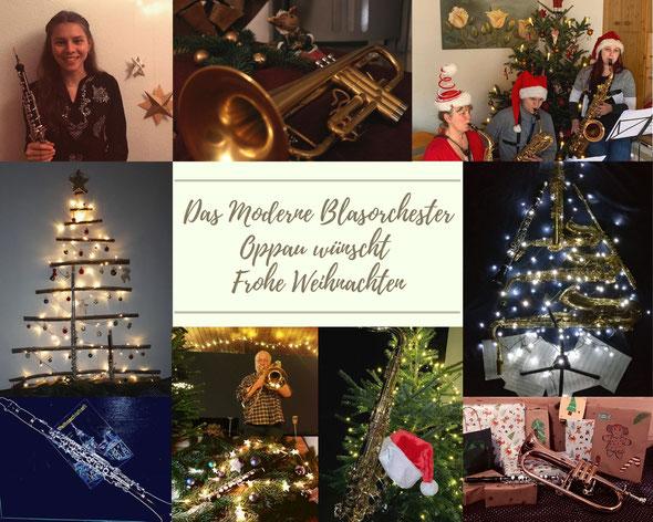 Virtueller Weihnachtsgruß des Modernen Blasorchesters Oppau (Bildrechte: MBO)