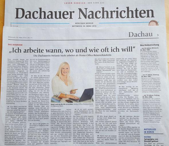 Beruf & Muttersein in Einklang bringen (Reisebüro Dachau)