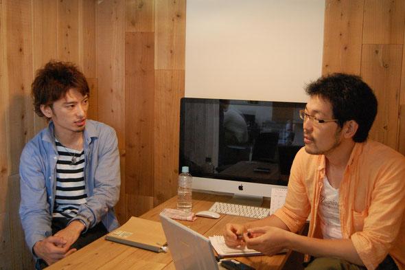 左:安田祐輔氏(NPO法人キズキ理事長) 右:インタビュアー 開沼博氏
