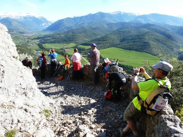 Bedous.org en mission reportage sur le Chemin de Compostelle dominant la Vallée d'Hecho