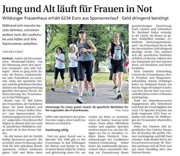 Waldeckische Landeszeitung (WLZ) vom 10.09.2012