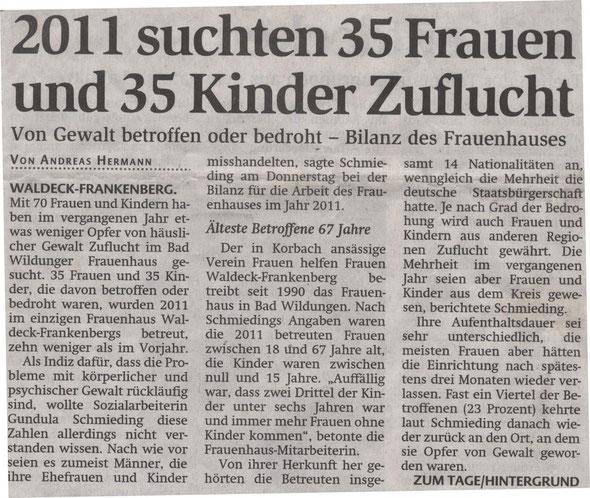 HNA Hessische Allgemeine  vom 03.02.2012