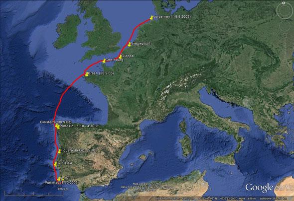Die erste Reise in den Süden ( 19.9.-8.10.2003)