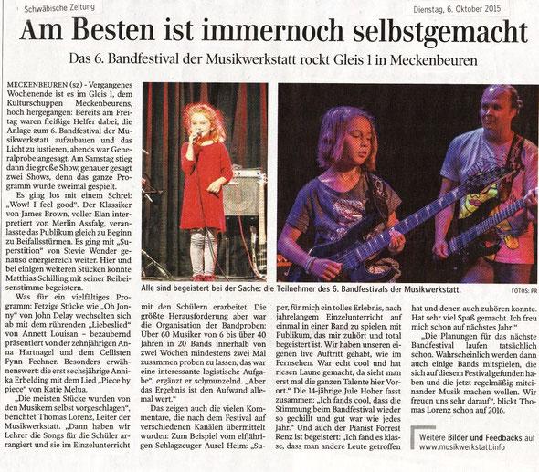 Vielen Dank an die Schwäbische Zeitung!