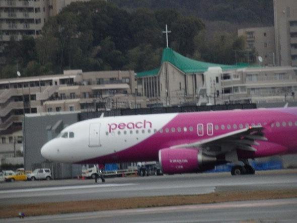 平成28年3月9日の福岡市の福岡空港のジェット機