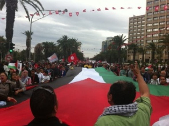 Demonstration for Palestine in Tunis