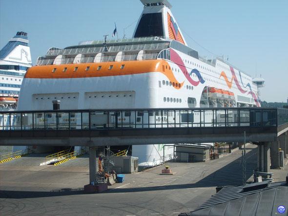 Baltic Queen à Stockholm-Värtahamnen (© lebateaublog-DC)