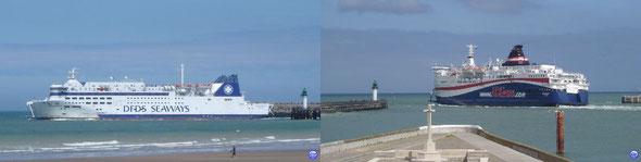 Deal Seaways & Norman Spirit à Calais (© lebateaublog 2012)