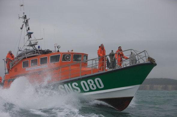 Le canot tout temps de Dieppe SNS 080 (© Philip Plisson in Mer et Marine)