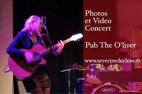 photo et video du concert de severine de close au pub l'oliver à brumath