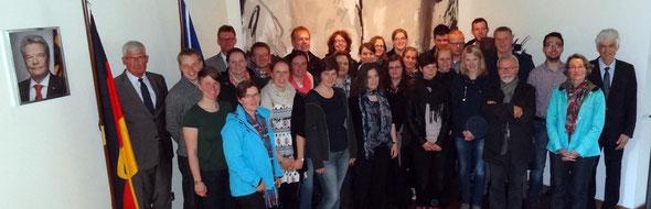 """Ein Gespräch zum Thema """"Irland und Europa"""" stand in der Deutschen Botschaft in Dublin auf dem Programm. Foto: Ulrichs"""