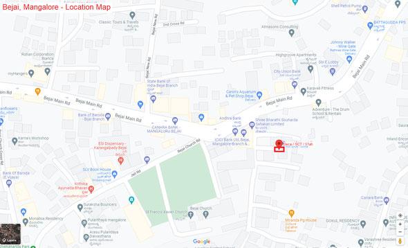Deca / Arunanjali - Bejai Mangalore Location Map