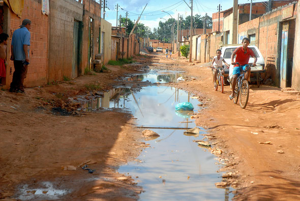 Open air sewer in a poor section of Brazil (source Wikicommons)