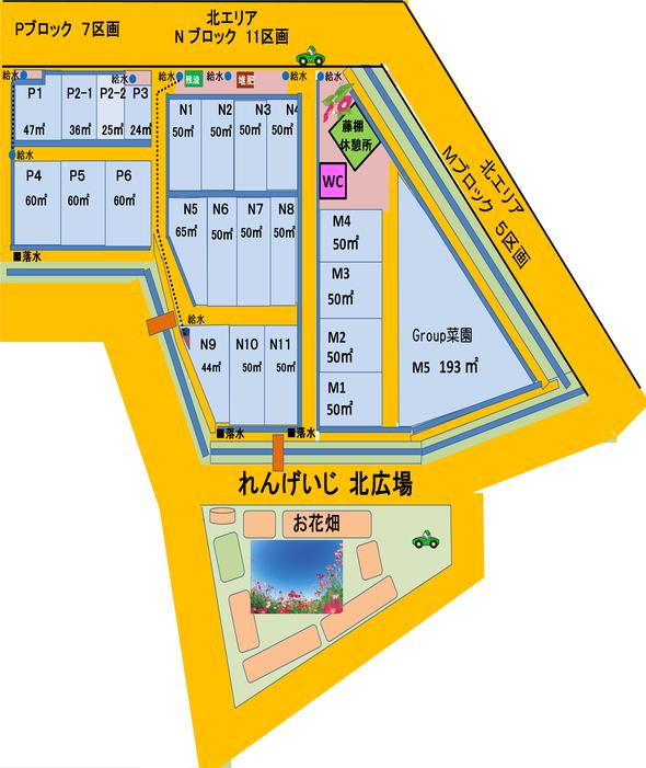 上津橋市民農園れんげいじファーム N・Pブロック